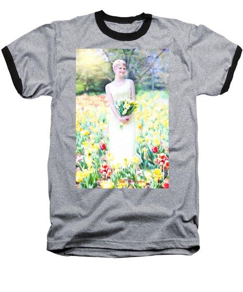 Vintage Val Spring Tulips Baseball T-Shirt