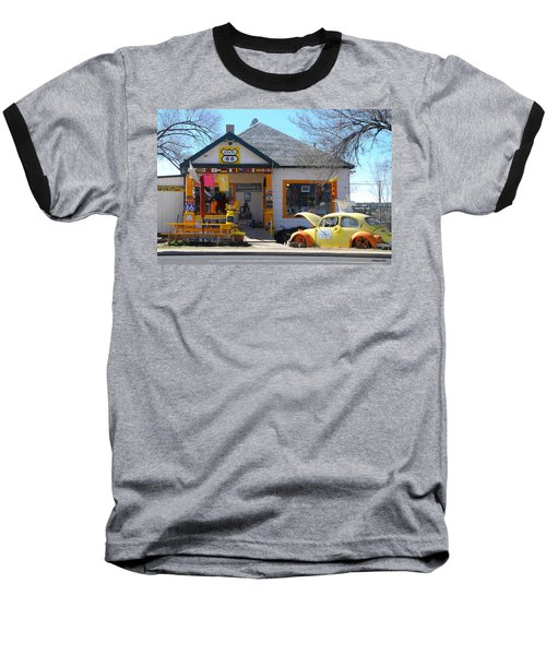 Vintage Vw Beetle At Seligman Antiques, Historic Route 66 Baseball T-Shirt