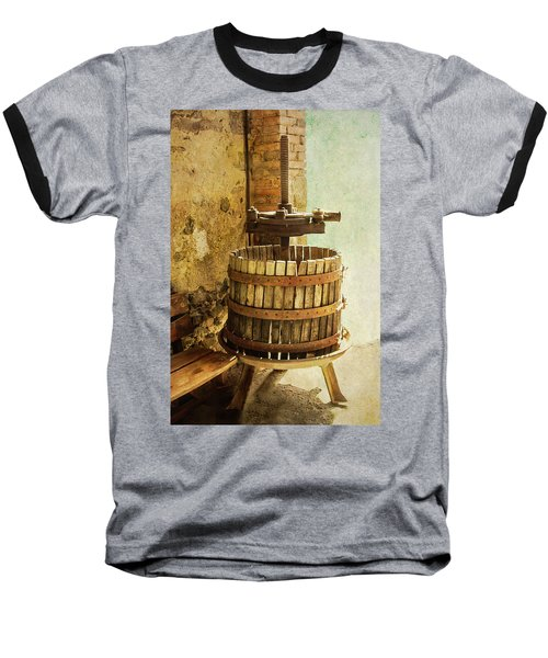 Vintage Wine Press Baseball T-Shirt