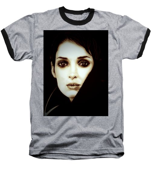 Vintage Winona Ryder Baseball T-Shirt by Fred Larucci