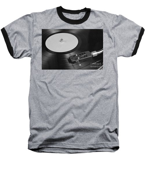 Vinyl Record Playing On A Turntable Overview Baseball T-Shirt
