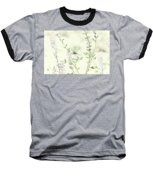 Violet And Green Bloom Baseball T-Shirt