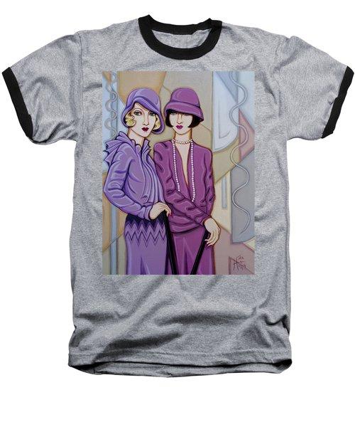 Violet And Rose Baseball T-Shirt by Tara Hutton