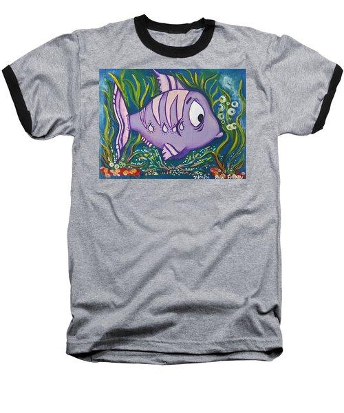 Violet Fish Baseball T-Shirt