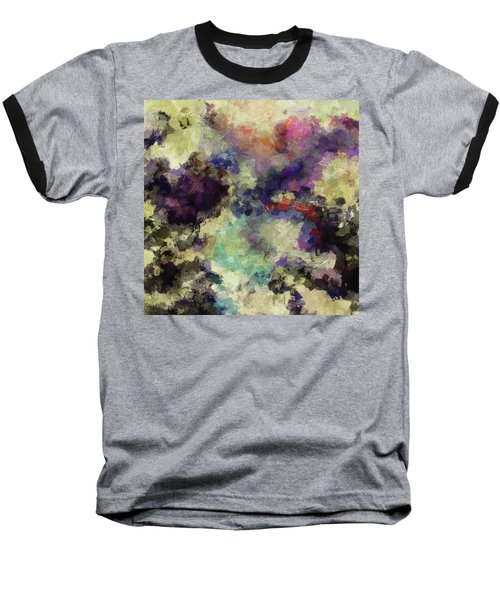 Violet Landscape Painting Baseball T-Shirt by Ayse Deniz