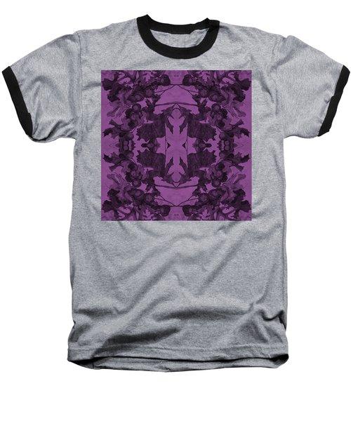 Violet Oak Tree Pattern Baseball T-Shirt