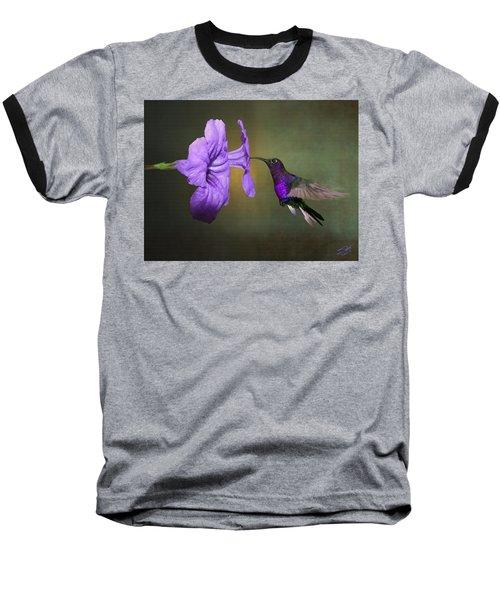 Violet Sabrewing Hummingbird Baseball T-Shirt