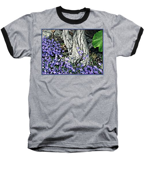 Violets At My Feet Baseball T-Shirt by Sarah Loft