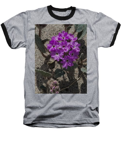 Baseball T-Shirt featuring the photograph Violets In The Sand by Jeremy McKay