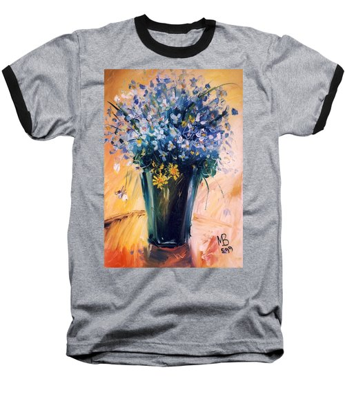 Baseball T-Shirt featuring the painting Violets by Mikhail Zarovny