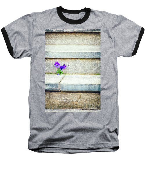 Baseball T-Shirt featuring the photograph Violets    by Silvia Ganora