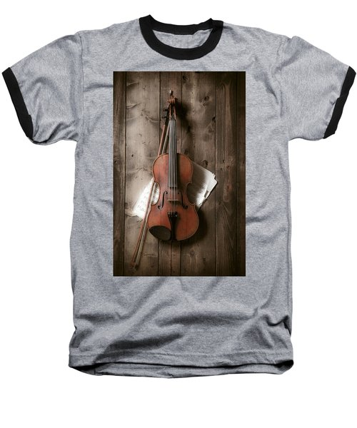 Violin Baseball T-Shirt