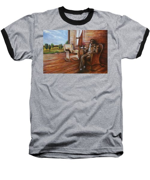 Baseball T-Shirt featuring the painting Violin Man by Emery Franklin