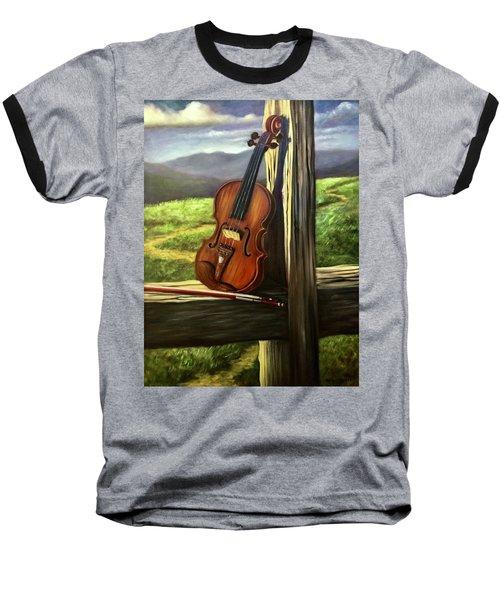 Baseball T-Shirt featuring the painting Violin by Randol Burns