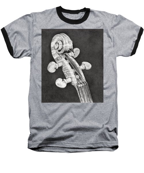 Violin Scroll Baseball T-Shirt