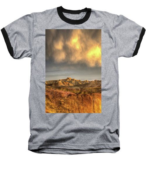 Virga Over The Badlands Baseball T-Shirt