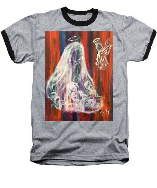 Virgin Mary And Baby Jesus Baseball T-Shirt