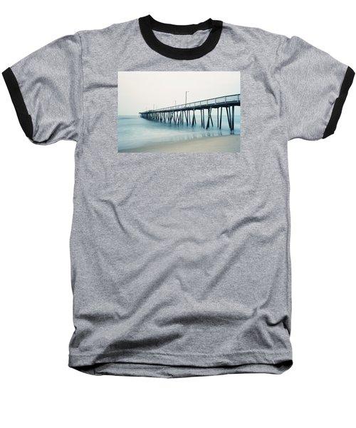 Virginia Beach Fishing Pier Baseball T-Shirt by Scott Meyer