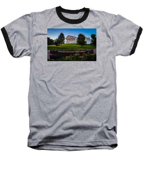 Virginia Capitol Building Baseball T-Shirt