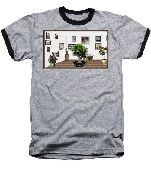 Virtual Exhibition -  Bonsai 13 Baseball T-Shirt by Pemaro