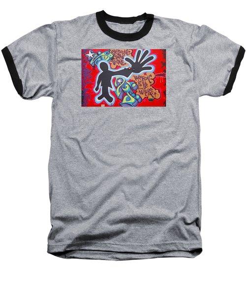 Vision Baseball T-Shirt by  Newwwman