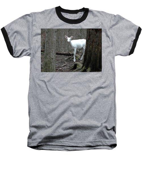 Baseball T-Shirt featuring the photograph Vision Quest White Deer by LeeAnn McLaneGoetz McLaneGoetzStudioLLCcom