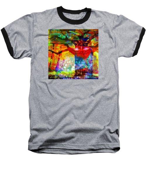 Vision The Tree Of Life Baseball T-Shirt by Fania Simon