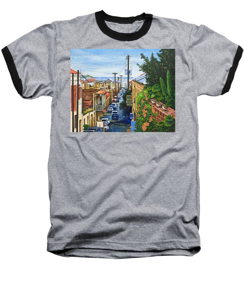 Baseball T-Shirt featuring the painting Visions Of Paradise Vii by Michael Frank