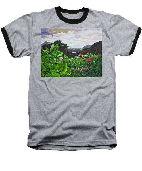 Baseball T-Shirt featuring the painting Visions Of Paradise Viii by Michael Frank