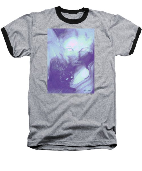 Baseball T-Shirt featuring the painting Visions Of The Night by Denise Fulmer