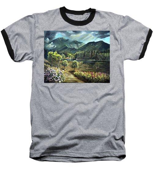 Vista View Of Cannon Mountain Baseball T-Shirt