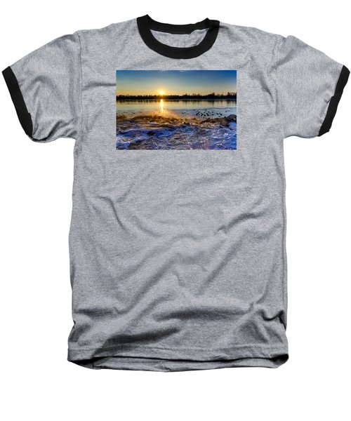 Vistula River Sunset 3 Baseball T-Shirt