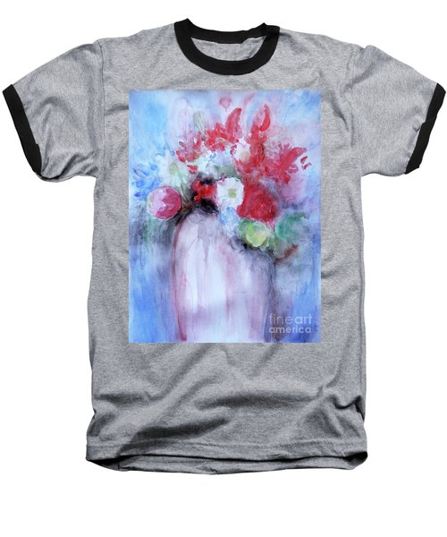 Baseball T-Shirt featuring the painting Vitality Still Life by Jasna Dragun