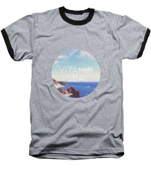 Vitamin Sea Baseball T-Shirt by Alexandre Ibanez