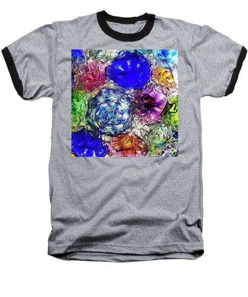 Vitreous Flora Baseball T-Shirt by Gary Holmes