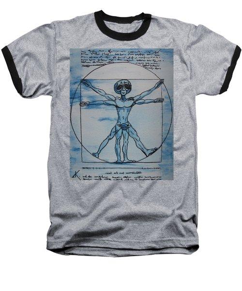 Vitruvian Alien Baseball T-Shirt