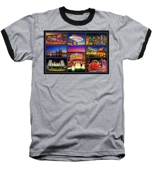 Viva Las Vegas Collection Baseball T-Shirt by Aloha Art