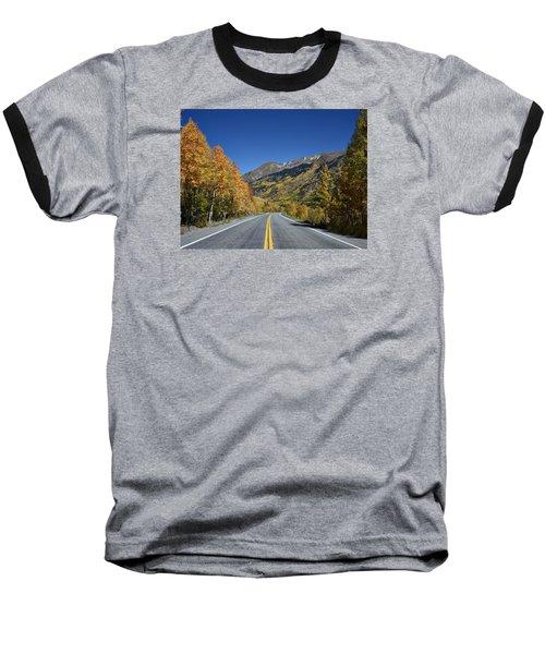 Vivid Fall Colors On The Million-dollar Highway In San Juan County In Colorado  Baseball T-Shirt by Carol M Highsmith