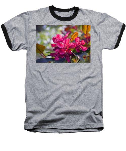 Vivid Pink Flowers Baseball T-Shirt by Tina M Wenger