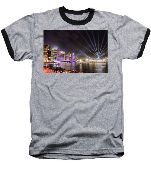 Vivid Sydney Skyline By Kaye Menner Baseball T-Shirt by Kaye Menner