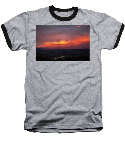 Vivid Verde Valley Sunset Baseball T-Shirt by Ron Chilston
