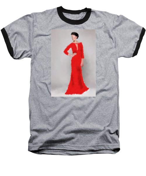 Baseball T-Shirt featuring the digital art Vivienne by Nancy Levan
