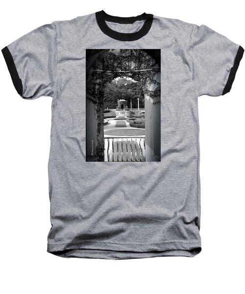 Vizcaya Garden Baseball T-Shirt by Edgar Torres