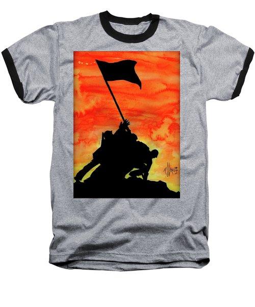 Vj Day Baseball T-Shirt by P J Lewis