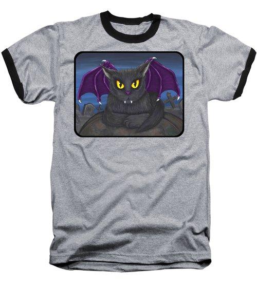 Vlad Vampire Cat Baseball T-Shirt