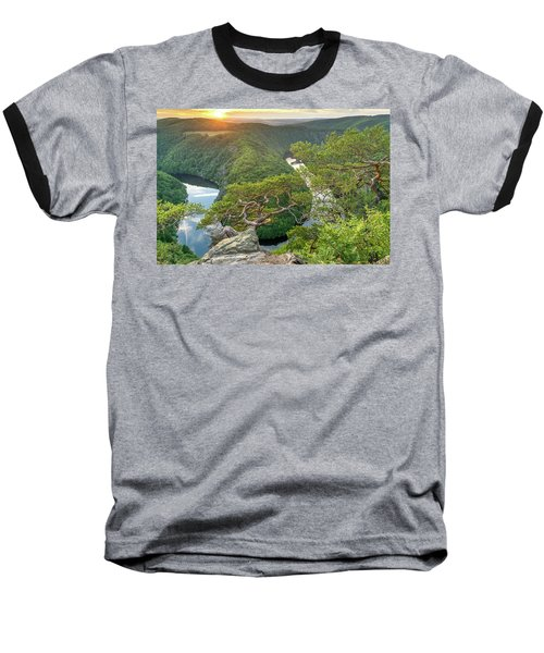 Vltava River Baseball T-Shirt
