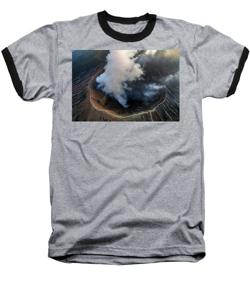 Volcanic Crater From Above Baseball T-Shirt