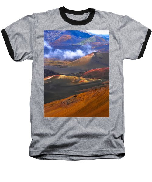 Baseball T-Shirt featuring the photograph Volcanic Crater In Maui by Debbie Karnes