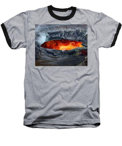 Volcanic Eruption Baseball T-Shirt