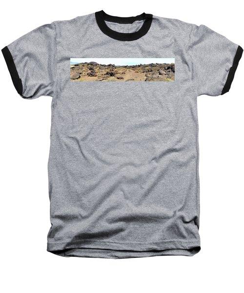 Volcanic Field Panorama Baseball T-Shirt